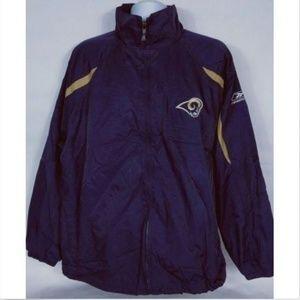 Reebok Men's Rams NFL Football Jacket Coat Large
